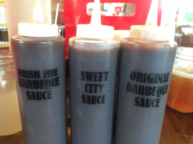 Barbecue sauce at City BBQ