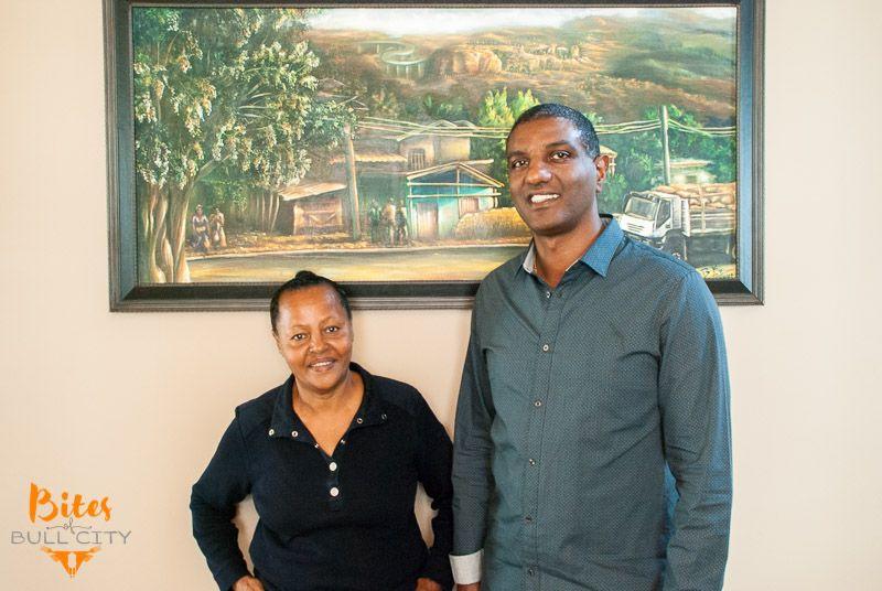 Owners of Goorsha Ethiopian www.BitesofBullCity.com