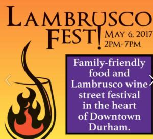 Lambrusco Fest @ City Hall Plaza   Durham   North Carolina   United States