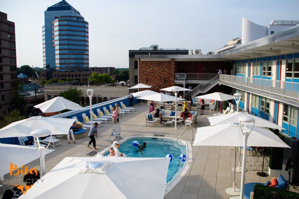 Rooftop pool Durham