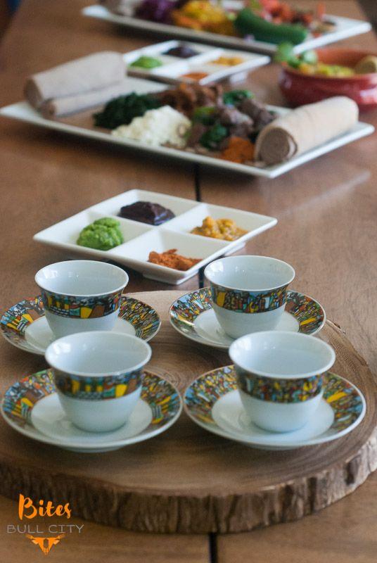 Ethiopian coffee service www.bitesofbullcity.com